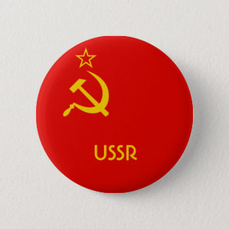 Soviet Flag 6 Cm Round Badge