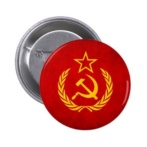 Soviet Flag Button