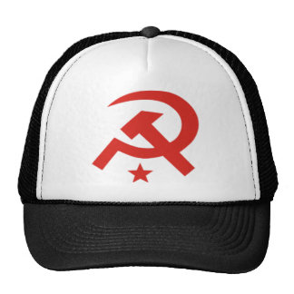 Soviet hammer and sickle design mesh hats