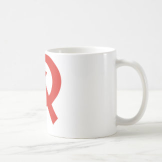 Soviet hammer and sickle design mug