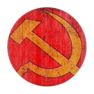 Soviet Hammer and Sickle Round Cutting Board