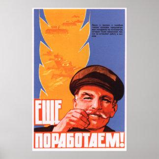 Soviet Kolkhoz propaganda poster 1964
