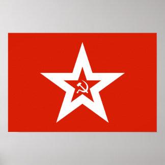 Soviet Navy Flag Poster