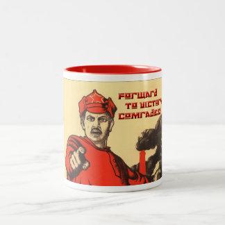 Soviet poster on mug