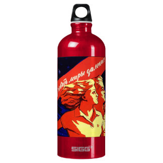 soviet propaganda water bottle