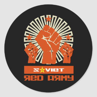 Soviet Red Army 3 Fists Classic Round Sticker