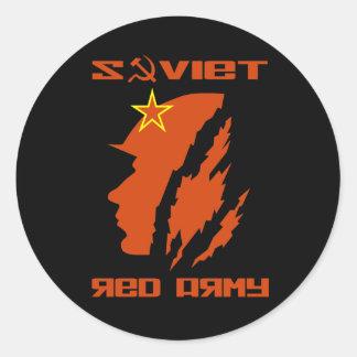 Soviet Red Army Soldier Classic Round Sticker
