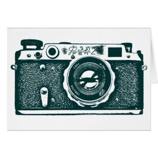 Soviet Russian Camera - Dark Green Note Card