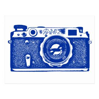 Soviet Russian Camera - Navy Blue Postcard