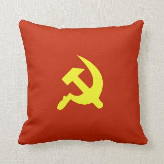 Soviet Sickle and Hammer CCCP Throw Pillow