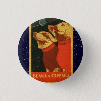 Soviet Space Dogs- Belka & Strelka 3 Cm Round Badge