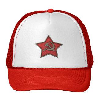 Soviet Star Hammer and Sickle Communist Mesh Hat