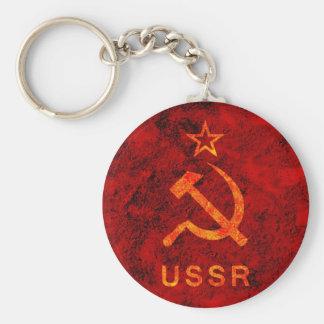 Soviet Symbol Basic Round Button Key Ring