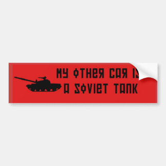 Soviet tank Bumper Sticker Red