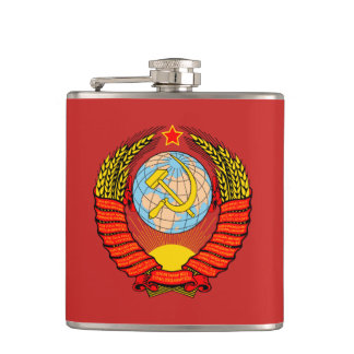 Soviet Union Coat of arms USSR Hip Flask