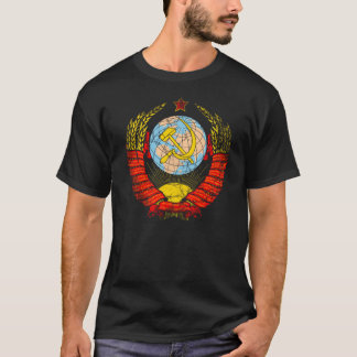 Soviet Union Coat Of Arms Vintage T-Shirt