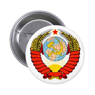 Soviet Union Emblem with CCCP 6 Cm Round Badge