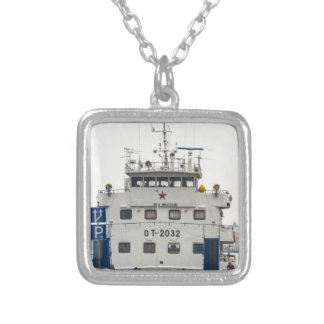 Soviet Union Ship Silver Plated Necklace