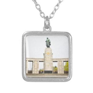 Soviet War Memorial in Berlin, Germany Silver Plated Necklace