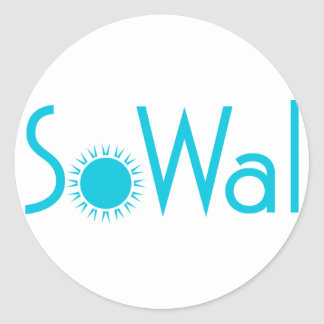 SoWal South Walton County with Sun Classic Round Sticker