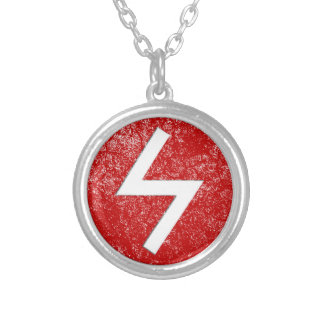 Sowilo Rune Silver Plated Necklace