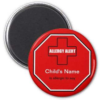 Soy Allergy Medical Allergic Alert Std Magnet