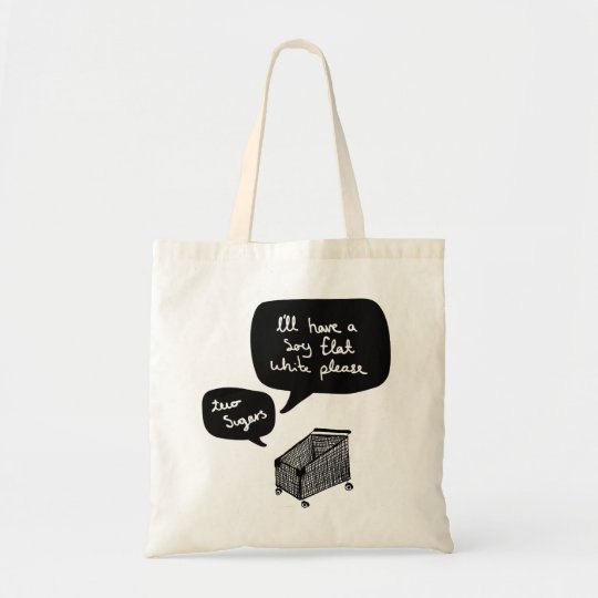 soy flat white please tote bag