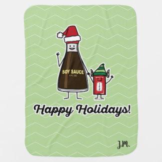 Soy Sauce Bottle Packet kid child Christmas Santa Baby Blanket