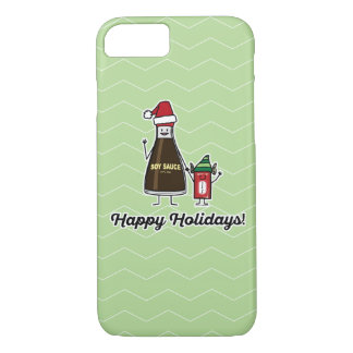 Soy Sauce Bottle Packet kid child Christmas Santa iPhone 8/7 Case