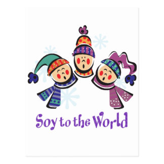 Soy to the World Holiday Post Cards