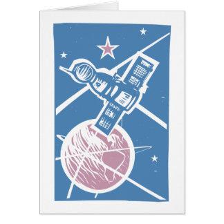Soyuz over Earth Card