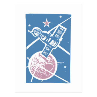 Soyuz over Earth Postcard