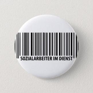 Sozialarbeiter im Dienst barcode icon 6 Cm Round Badge