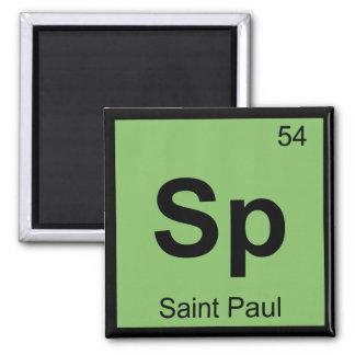 Sp - Saint Paul Minnesota Chemistry Periodic Table Magnet