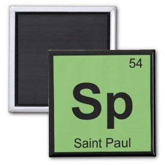 Sp - Saint Paul Minnesota Chemistry Periodic Table Square Magnet