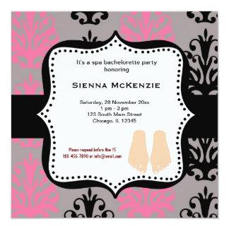 Spa Bachelorette Party 13 Cm X 13 Cm Square Invitation Card