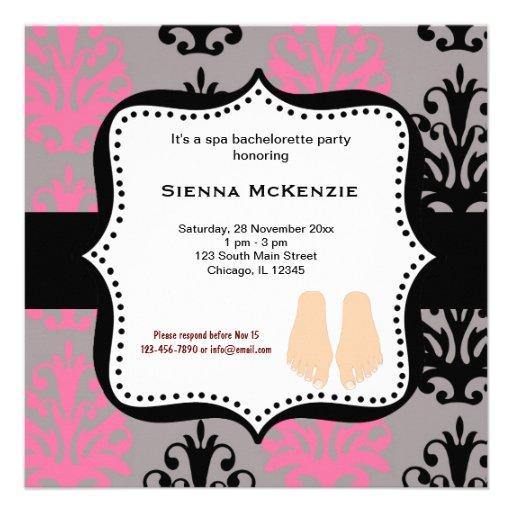Spa Bachelorette Party Personalized Invitations