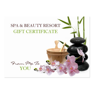 SPA & Beauty Resort Gift Certificate Business Card Template