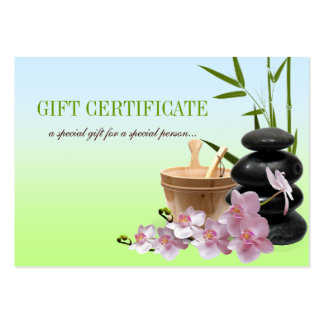SPA & Beauty Resort Gift Certificate Business Cards
