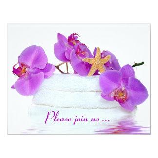 Spa Birthday Party 11 Cm X 14 Cm Invitation Card