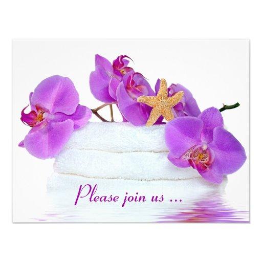 Spa Birthday Party Custom Invites