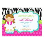 "Spa Birthday Party Invitations 5"" X 7"" Invitation Card"