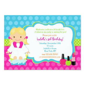 Spa Birthday Party Invitations