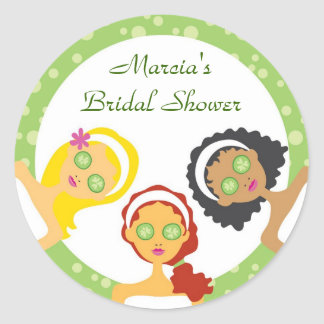 Spa Bridal Shower Favor Sticker