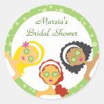 Spa Bridal Shower Favour Sticker