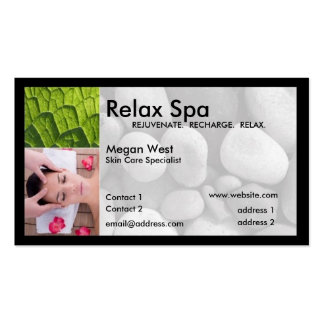 Spa business card - two sided