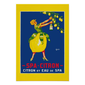 Spa Citron Vintage Poster