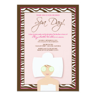 Spa Day Bridal Shower Invitation (pink)