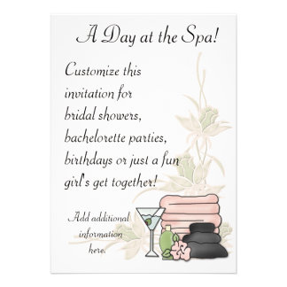 Spa Day Custom Invite
