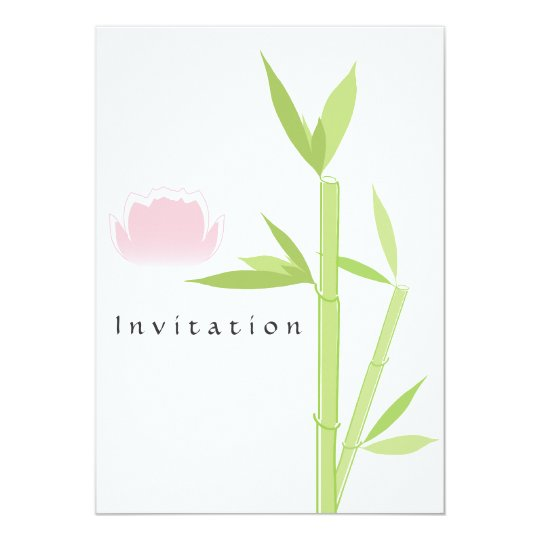 Spa Elegant Invitation Card